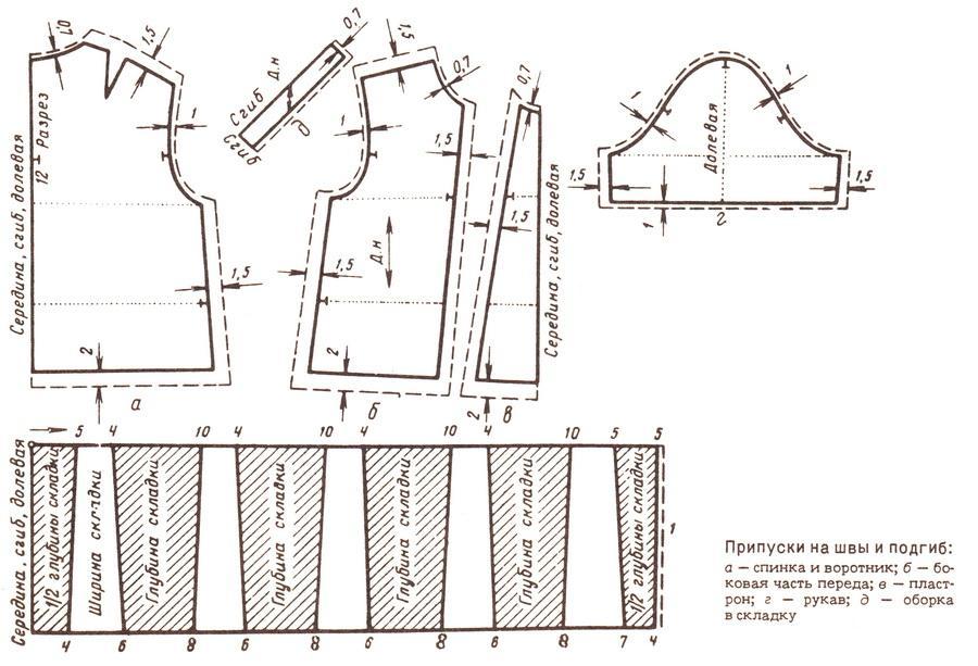 Короткое платье с длинным рукавом выкройка